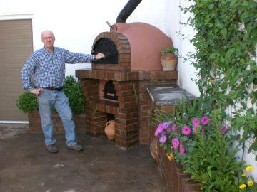 Hornos artesanos de obra hornos y barbacoas pinterest for Barbacoas para jardin