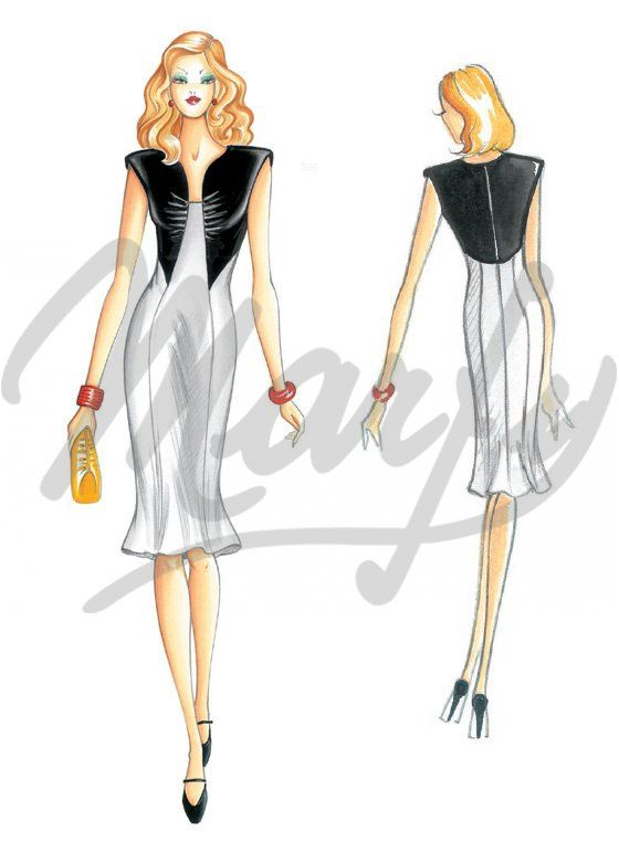 Model 3069 | Sewing Pattern Dress: