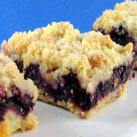 Blueberry Crumb Bars- for the love of blueberries!