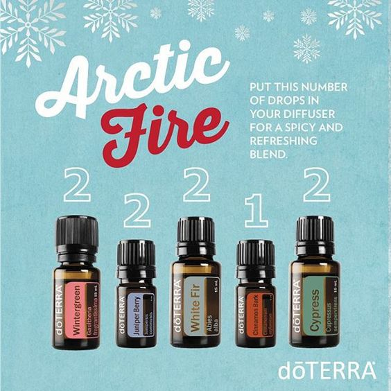 Arctic Fire essential oil diffuser blend | doTERRA