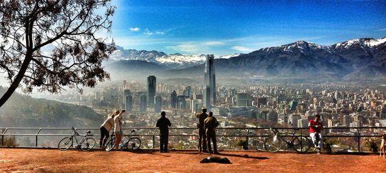 Parque Metropolitano. Parc Metropoilitain. Santiago de Chile