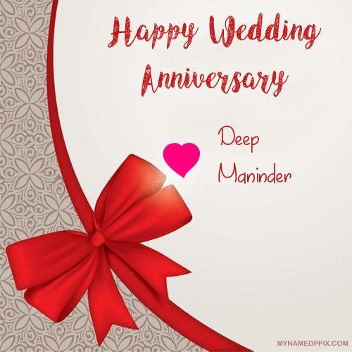 Write Couple Name Anniversary Card Image Anniversary Greeting