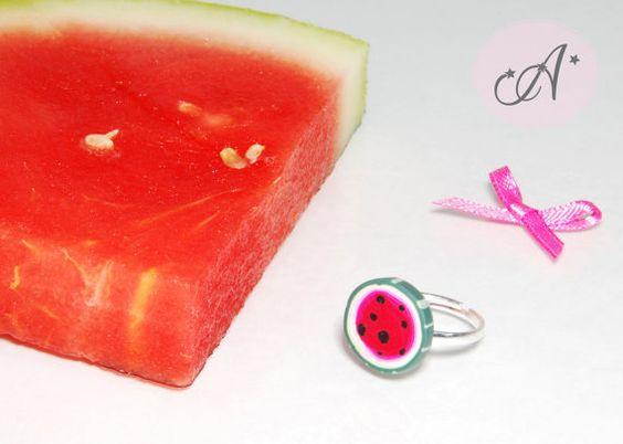Ring-Juwel Melone Wassermelone Ring von BoutiqueAlnilam auf Etsy