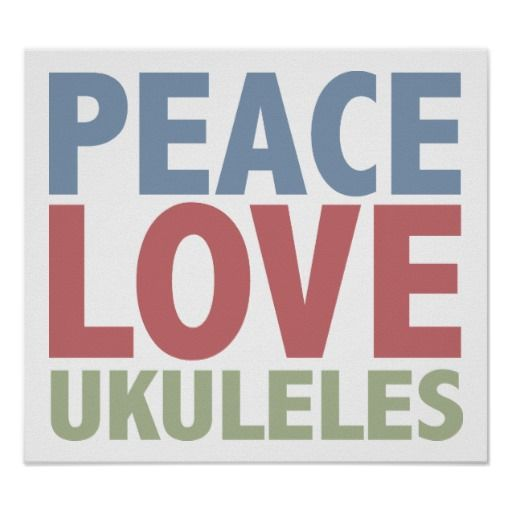 Check out this great Peace Love Ukuleles design from TeeShirtsTShirts' collection of awesome Guitars & Bass gifts.