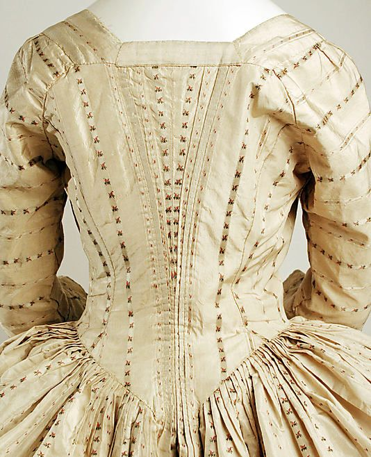 Robe à la Polonaise Date: ca. 1775 Culture: British Medium: silk, cotton: