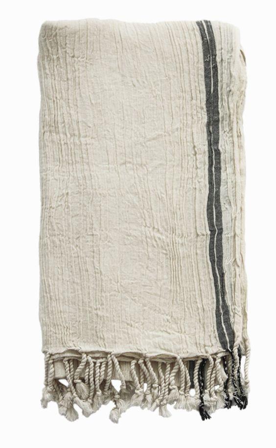 turkish hammam towel. crinkled cotton.
