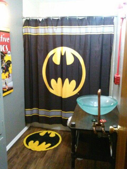Batman bathroom. This might be as desirable as my Mickey bathroom.