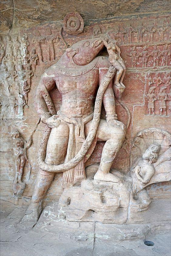 Vishnu as Varaha, Udayagiri Caves