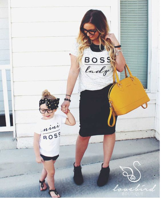 adorable boss lady and mini boss tees