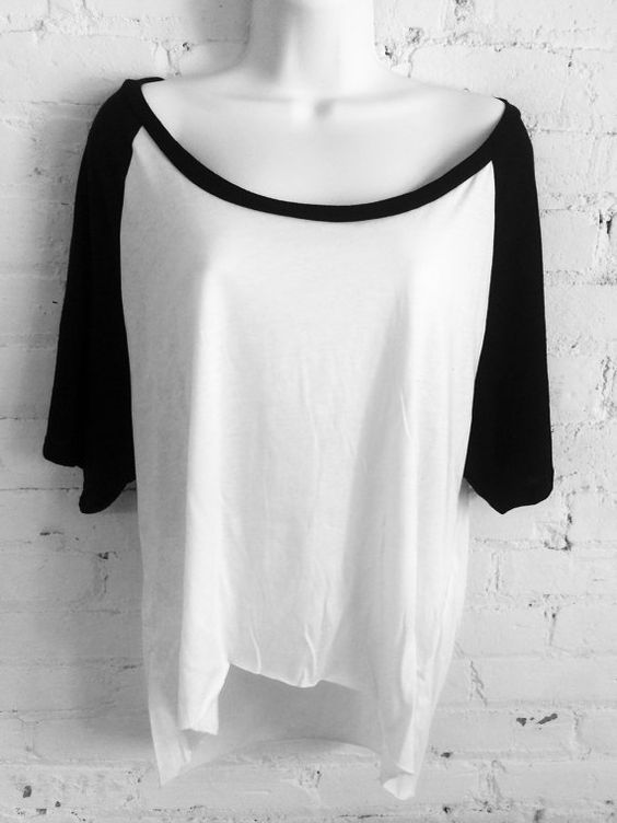 Loose Off Shoulder Two-Tone High Low by OverTheLimitApparel
