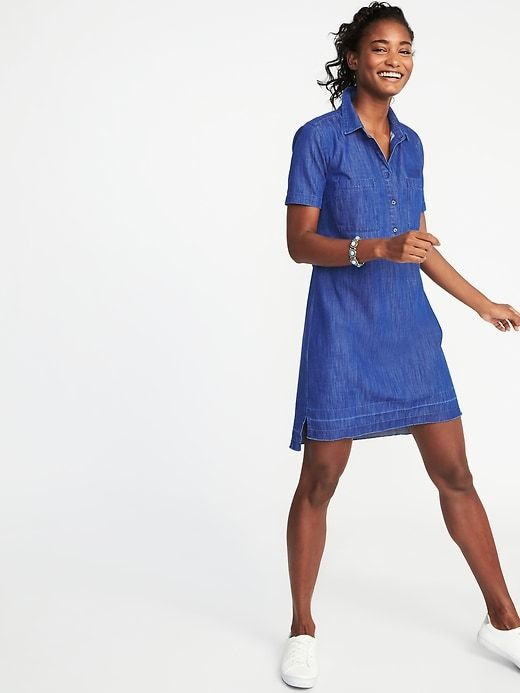 Released-Hem Denim Shirt Dress for Women | Old Navy | Fashion ...