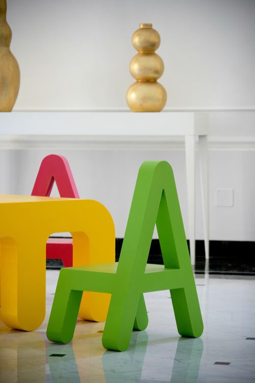 Arredi Letters Da Alessandro Di Prisco : Letters furniture for kids by alessandro di prisco