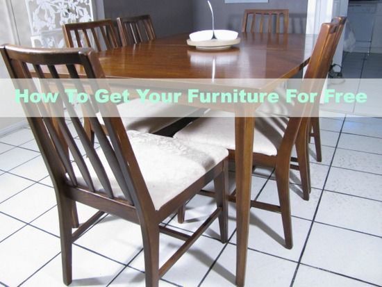 how to get your furniture for free