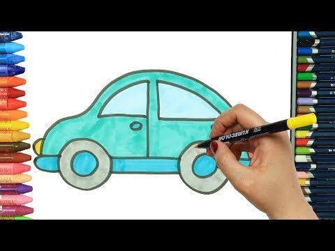 Wie Zeichnet Man Blaues Auto Ausmalen Kinder Kindervideos