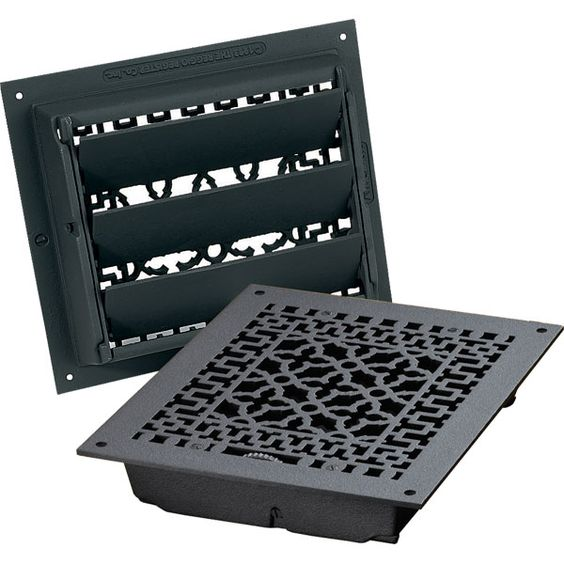 Cast Iron Floor Registers And Air Return Grilles Decorative Vent Covers That Turn Blah To Beautiful Decorative Vent Cover Heat Registers Vent Covers