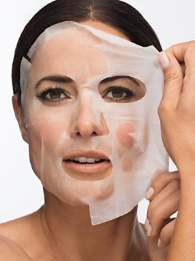 Revitalizing treatment leaves you looking younger in just one use! So easy and refreshing to use: just lay the face-shaped cloth over clean skin and relax for 20 minutes. Then remove and massage in the remaining serum; no messy peeling or washing. | BioMiracle Face Mask (package of 5) $10 | NEW at BodyBelle.com