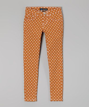 Look at this #zulilyfind! Orange Polka Dot Pants - Toddler & Girls by Crystal Vogue #zulilyfinds  Really cute for Fall!