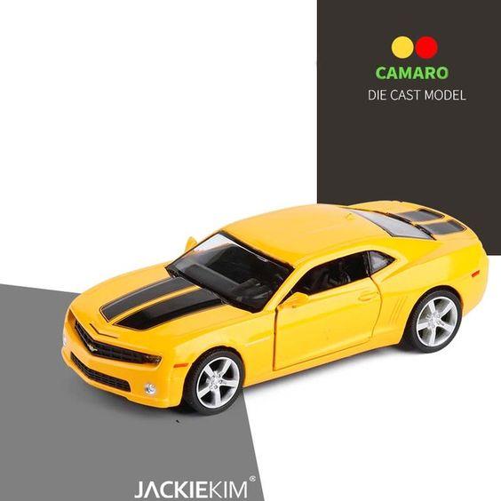 High Simulation 1 36 Scale Chevrolet Camaro Super Car Alloy Pull