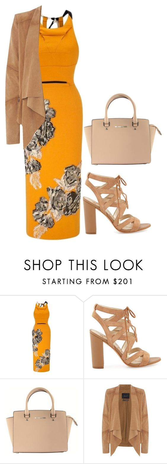 """Untitled #505"" by samson-90 on Polyvore featuring Roland Mouret, Sam Edelman, Michael Kors and Oui"