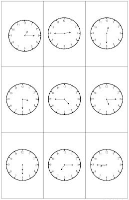 quarter to, quarter of, half past time sorting | Hands On Math ...