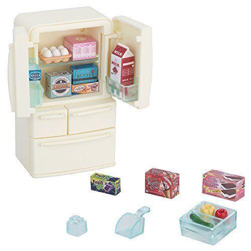EPOCH Sylvanian Families furniture Refrigerator set Doll House Accessory