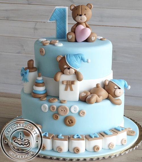 Pin By Sarah Ramos On Cakes Baby Birthday Cakes Baby First Birthday Cake Bear Baby Shower Cake