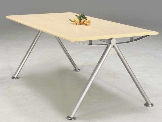 A式時尚會議桌(白山毛櫸板)W180D90 - 商品圖片