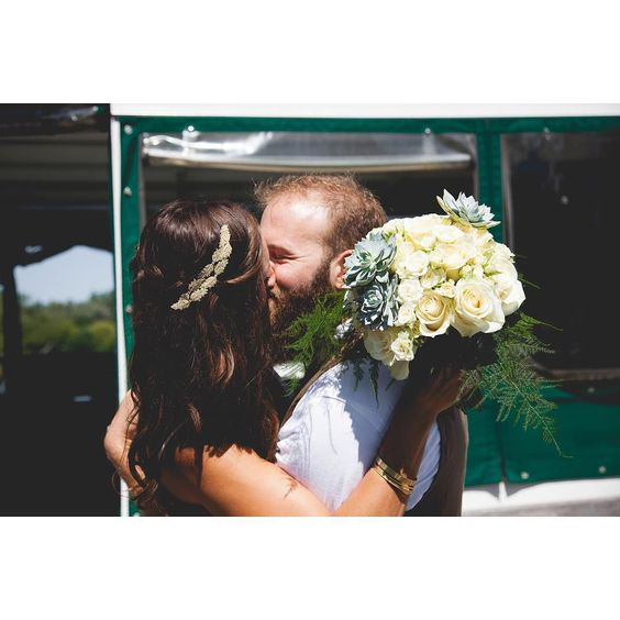 Look at these two little lovebirds! #tbt to the most beautiful August Sunday when two of my faves locked each other down forever in the most gorgeous most boho most DIY most personal Toronto island ceremony ever. All while wearing a custom HM headpiece obviously. #babysfirstjewishwedding #notherlast