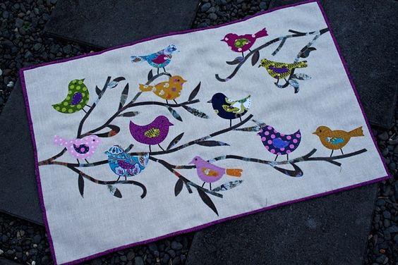 Bird wall quilt