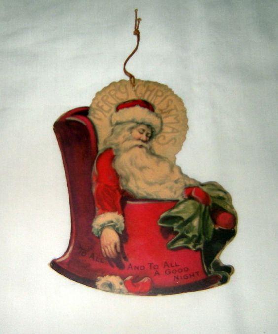 Vintage Christmas card (1920)