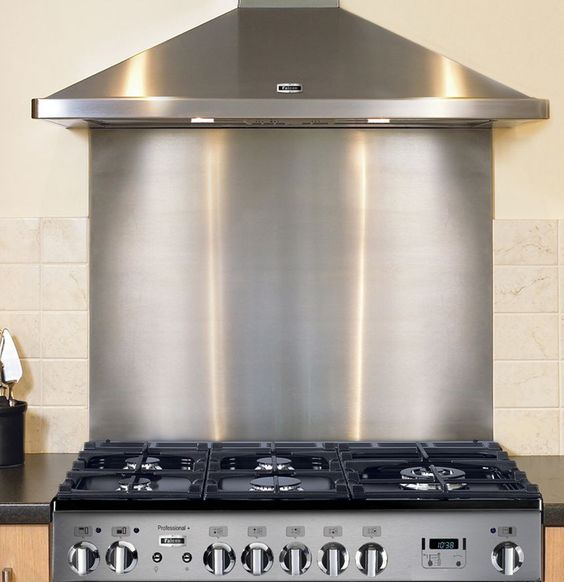 Stainless Steel Splashback 1.2mm thick (Not M.D.F backed)