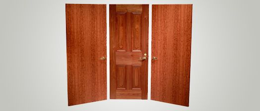 Maiman interior stile rail wood doors and thermal fused for Wood stile and rail doors