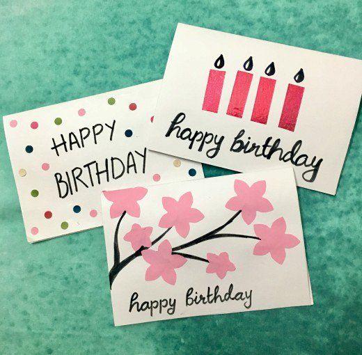 Diy Birthday Cards Easy Birthday Cards Diy Happy Birthday Cards Diy Simple Birthday Cards