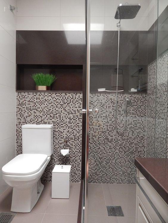Projeto de Reforma Banheiro Masculino em Granito Marrom Absoluto por Ambientt -> Decoracao De Banheiro Com Granito Preto