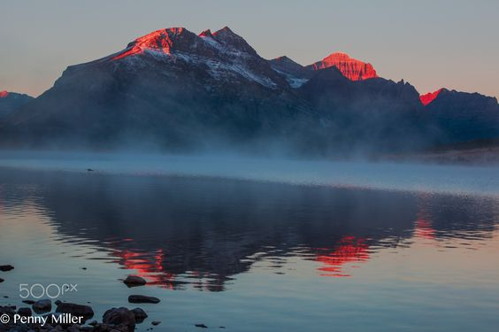 Sun Kissed Peaks - this was taken in October .  Early morning sunrise light enhancing the natural beauty.