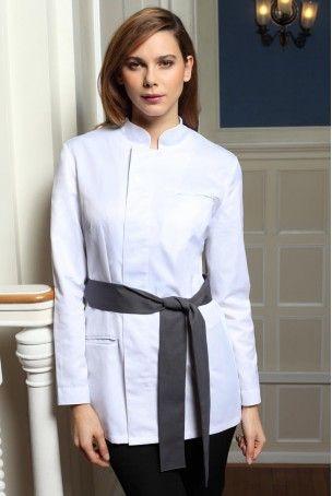 Tunique SIAM blanc - Tuniques & Blouses professionnelles Santé Femme - Vêtements professionels Tuniques & Blouses Santé par Beauty Street