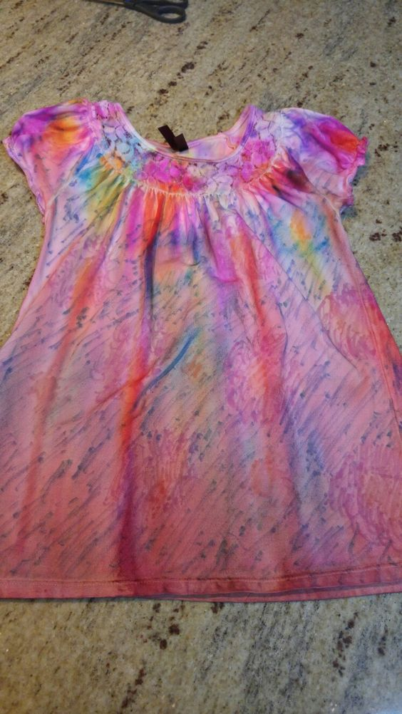 Stained white shirt transformed by sharpie