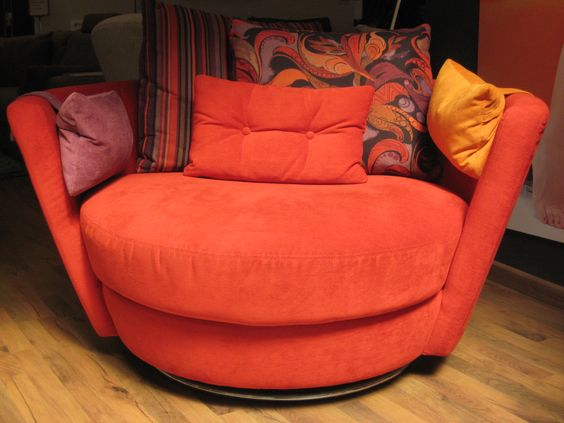 Snuggle chair in supplier fabrics.