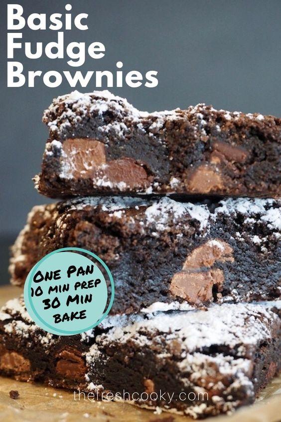 The BEST One Pan Brownies