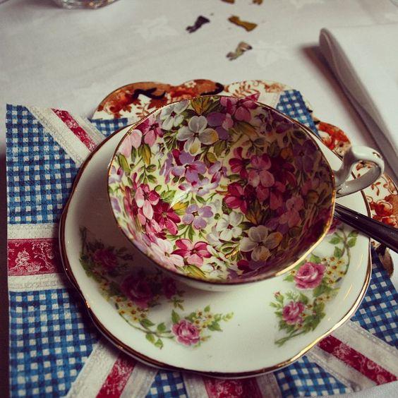 Vintage tea sets available to hire. #tea #afternoontea #wedding #weddinginspiration #vintageteaparty #tea #vintage #bespoke #british