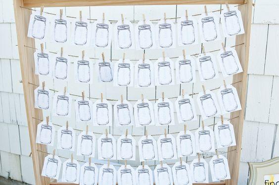 Mason Jar Wedding Stationary