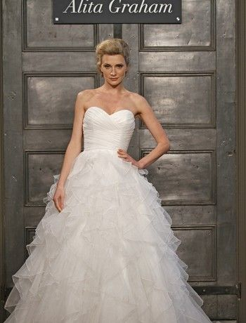 Alita Graham Sweetheart Ball Gown in Organza from Keinfeld's