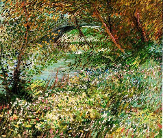 Vincent van Gogh. Banks of the Seine with Pont de Clichy in the Spring. Paris: June 1887