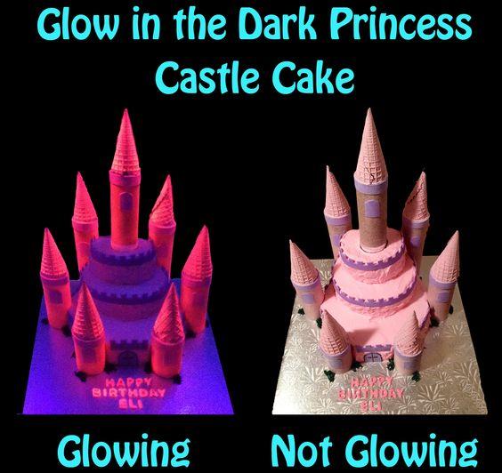 Sweet Dreamz Delights of Miami Glow in the Dark Princess Castle Cake