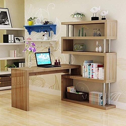 Qixian Home Life Computer Desk Bedroom Rotating Corner Desk