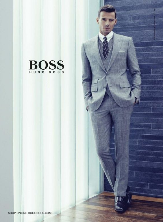 Hugo Boss the 3-piece combination. Fantastic suit, vest and slim