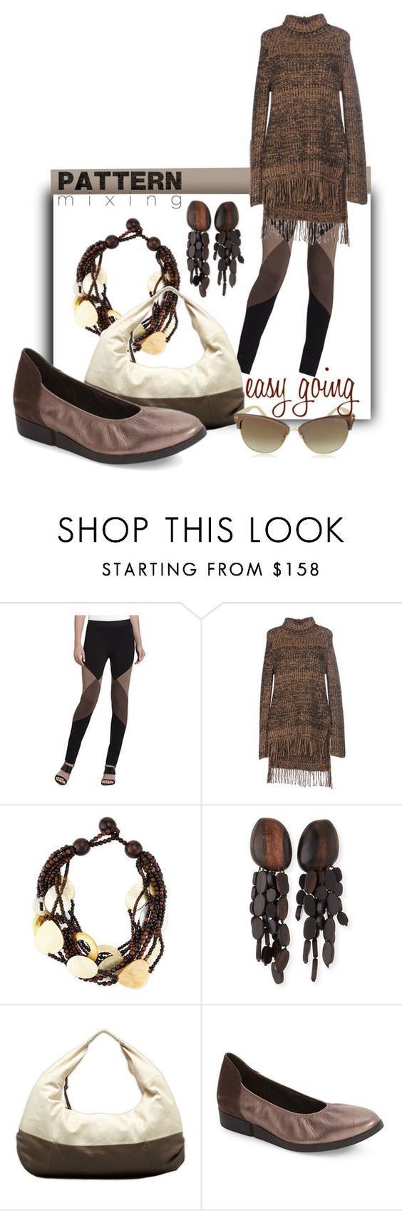 """Easy Going Pattern Mixing"" by simply-one ❤ liked on Polyvore featuring BCBGMAXAZRIA, Sportmax, Viktoria Hayman, Arche, Tom Ford and patternmixing"