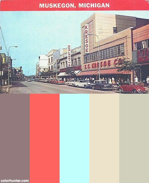 Western Avenue In The 1950s Color Scheme
