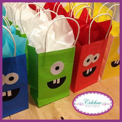 Bolsitas de dulces de monstruos un detalle s per original - Detalles para cumples infantiles ...
