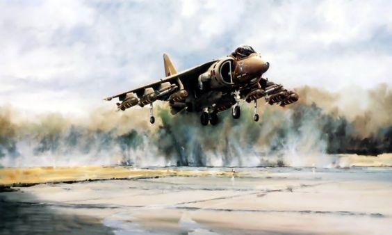 British Harrier Jet, Falkland War